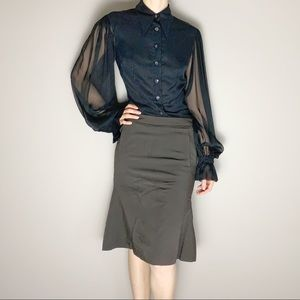 💋SALE Reiss fit and flare brown skirt